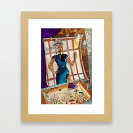 Nautical Sky Captain  Framed Art Print