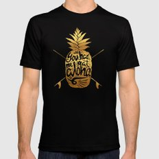 You had me at Aloha (GOLD EDITION) 2X-LARGE Black Mens Fitted Tee