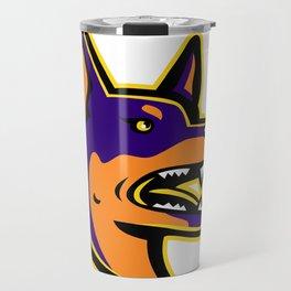Australian Kelpie Dog Mascot Travel Mug