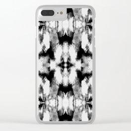 Tie Dye Blacks Clear iPhone Case