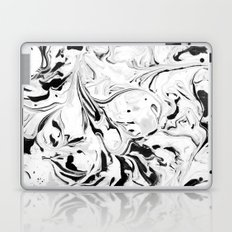 Black and White Marble Laptop & iPad Skin