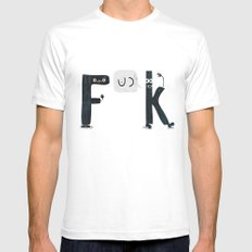 K & F Mens Fitted Tee White SMALL