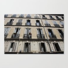 Architecture photograph made in Provence France of a characteristic Rivierea Louvre style house Canvas Print