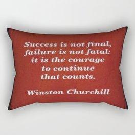 Winston Churchill Success Quote Rectangular Pillow