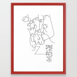 London Bridge Alphabet Framed Art Print