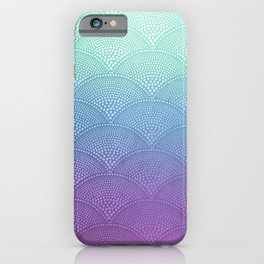 Purple & Turquoise Scallop iPhone Case