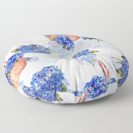 Cape Cod Hydrangeas and Baskets Floor Pillow