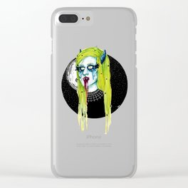 Spooky Girl Clear iPhone Case