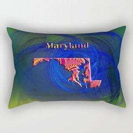 Maryland Map Rectangular Pillow