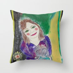 Self Love Portrait for Inner Peace  Throw Pillow