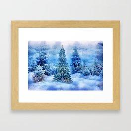 Christmas tree scene Framed Art Print