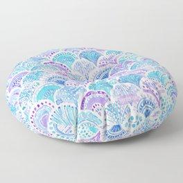 Mystical MERMAID DAYDREAMS Watercolor Scales Floor Pillow