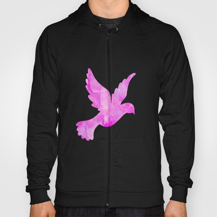 Abstract Flying Dove Hoody