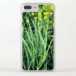 Beautiful Weeds Clear iPhone Case