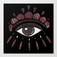 kenzo Canvas Prints featuring KENZO eye red by cvrcak