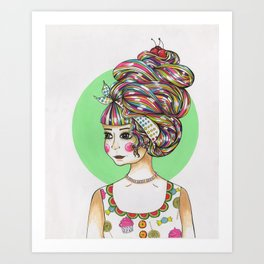 BORN IN CANDYLAND Art Print
