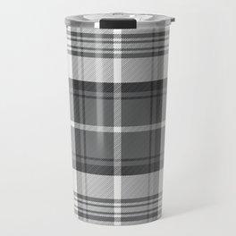 Black & White Tartan Travel Mug