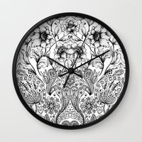 folk Wall Clocks featuring folk by gtrapp
