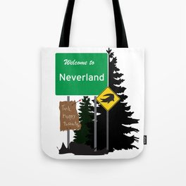 Neverland signs Tote Bag
