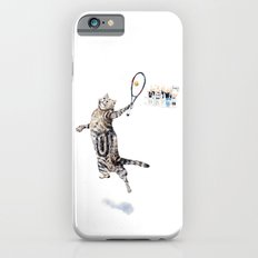 Cat Playing Tennis Slim Case iPhone 6s