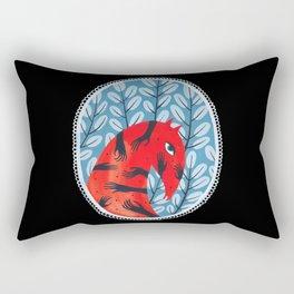 Smug red horse 2. Rectangular Pillow