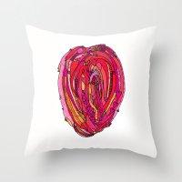 artsy Throw Pillows featuring Artsy Heart by Ingrid Padilla