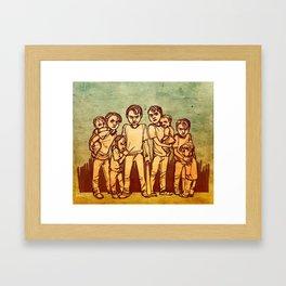 Flock of Steves Framed Art Print