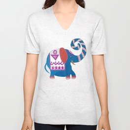 Elephant painted markers Unisex V-Neck