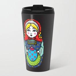16bit Matrioska Black Background Travel Mug