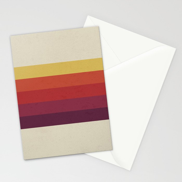 Retro Video Cassette Color Palette Stationery Cards