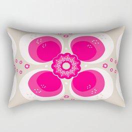 Retro Flower Delight Rectangular Pillow