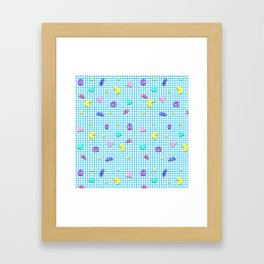 Confetti Grid Framed Art Print