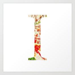 "Initial letter ""I"" Art Print"