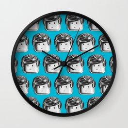 Minifigure Pattern – Blue Wall Clock