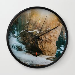 Magical light at Johnston Canyon Wall Clock