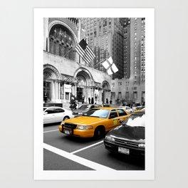 NYC Yellow Cabs Avenue - USA Art Print