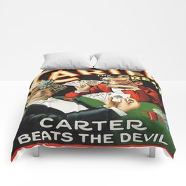 Carter The Great Magician Poster Comforters