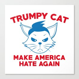 Trumpy Cat Canvas Print