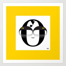 Bodoni Boy with Frame Art Print
