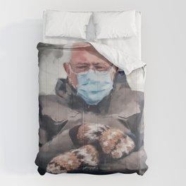 Bernie Sanders and his Mittens Comforters