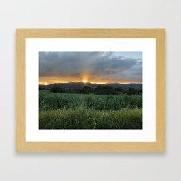 Coucher de soleil en Lamentin Framed Art Print