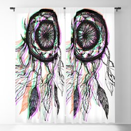 Modern Artistic Native American Dreamcatcher Blackout Curtain