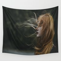 wind Wall Tapestries featuring Wind by Jovana Rikalo