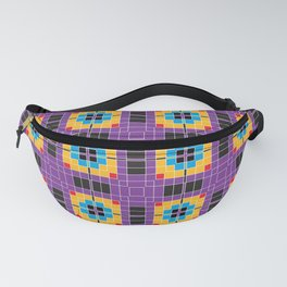 Pixels Plaid Fabric Pattern Fanny Pack