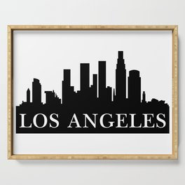 Los Angeles City Skyline Silhouette Serving Tray
