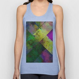 Dark Diamonds - Textured, patterned painting Unisex Tank Top