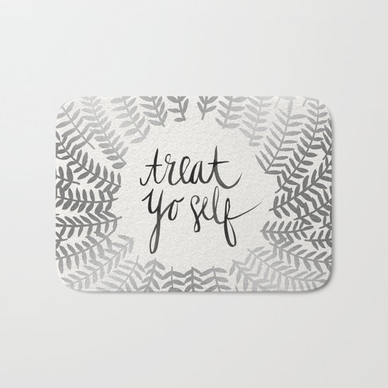 Treat Yo Self – Silver Bath Mat