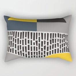Umbrella Rain Abstract Rectangular Pillow