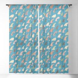 Single fin love Sheer Curtain