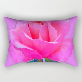 """PINK LOVERS"" PINK ROSE ON  PINK COLOR Rectangular Pillow"